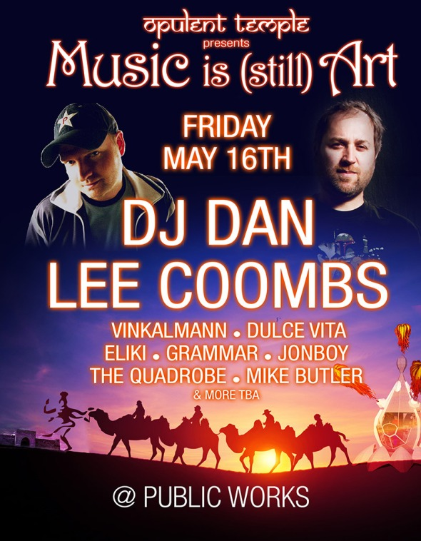 Lee Coombs headlines Opulent Temple, SF @ Public Works, Friday 16th May